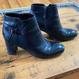 Franco Sarto Black Ankle Boots